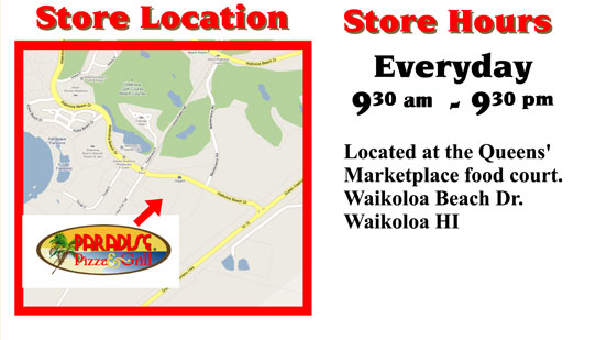 A map to our location. Hours are 9:30am - 9:30pm